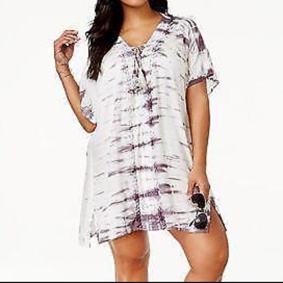 f202b0081f004 Raviya Swim | Nwt Tie Dye Lace Up Coverup Dress 2x | Poshmark